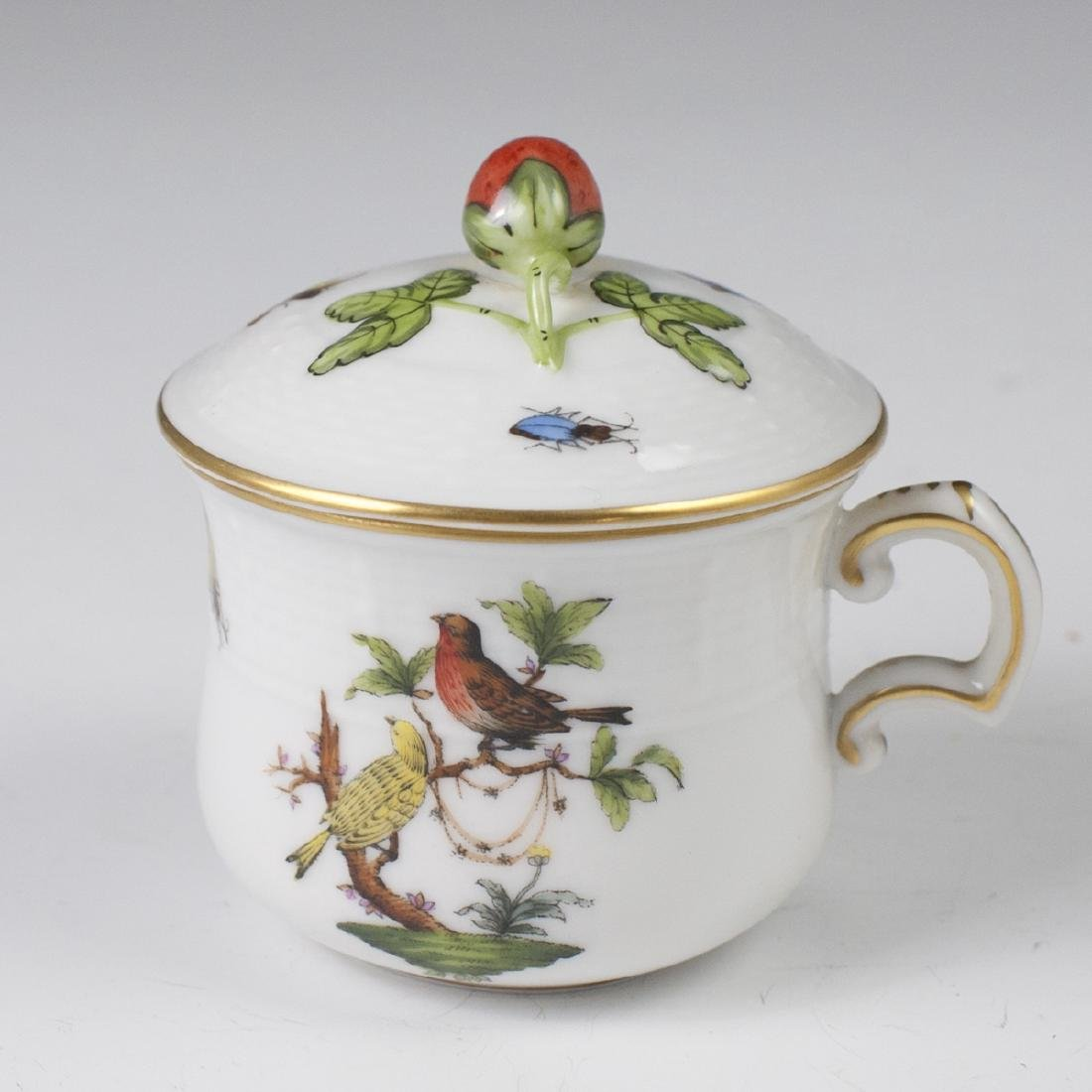 "Herend Porcelain ""Rothschild"" Pot De Creme"