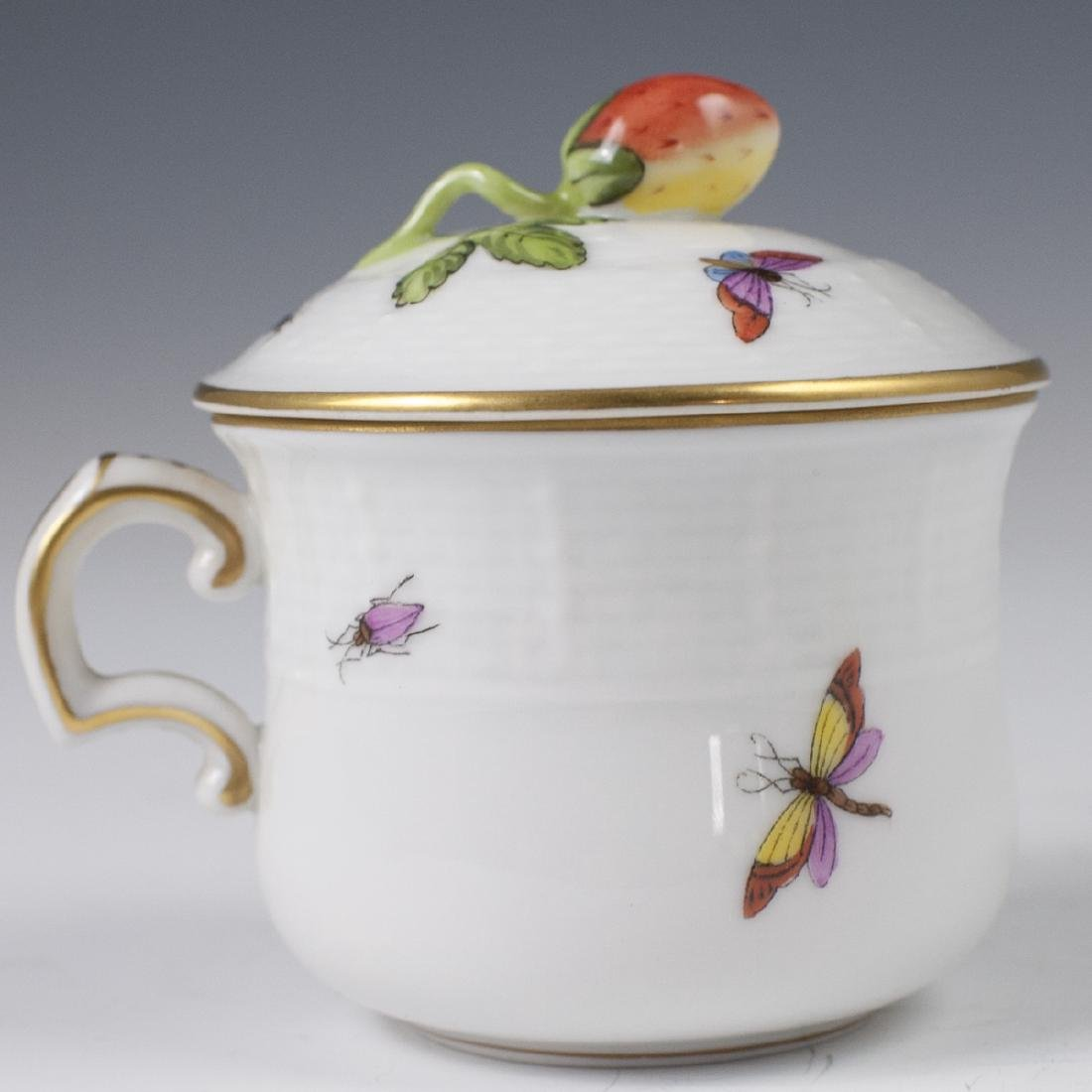 "Herend Porcelain ""Rothschild"" Pot De Creme - 4"