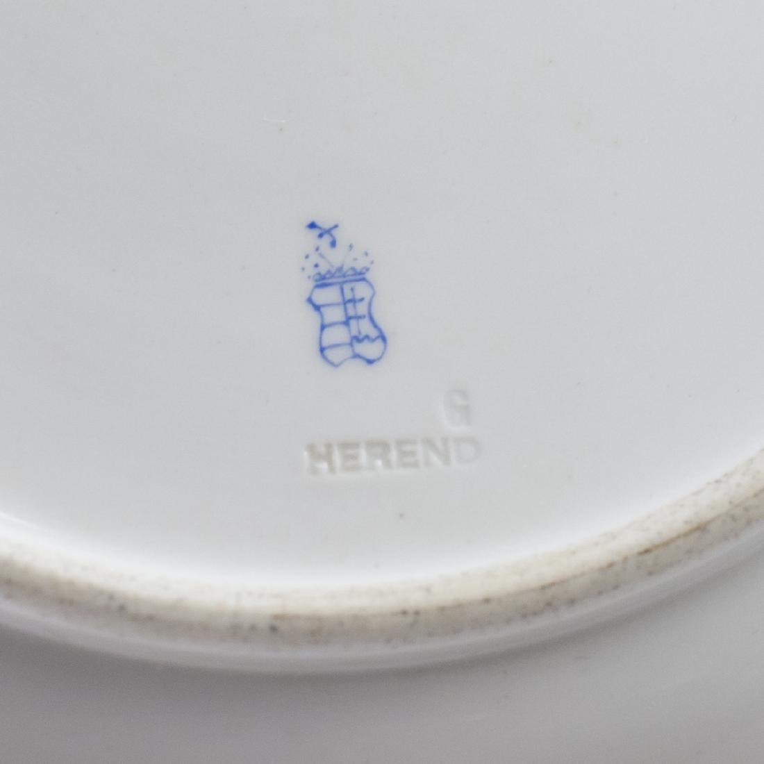 "Herend ""Indian Basket"" Dinner Plates - 3"