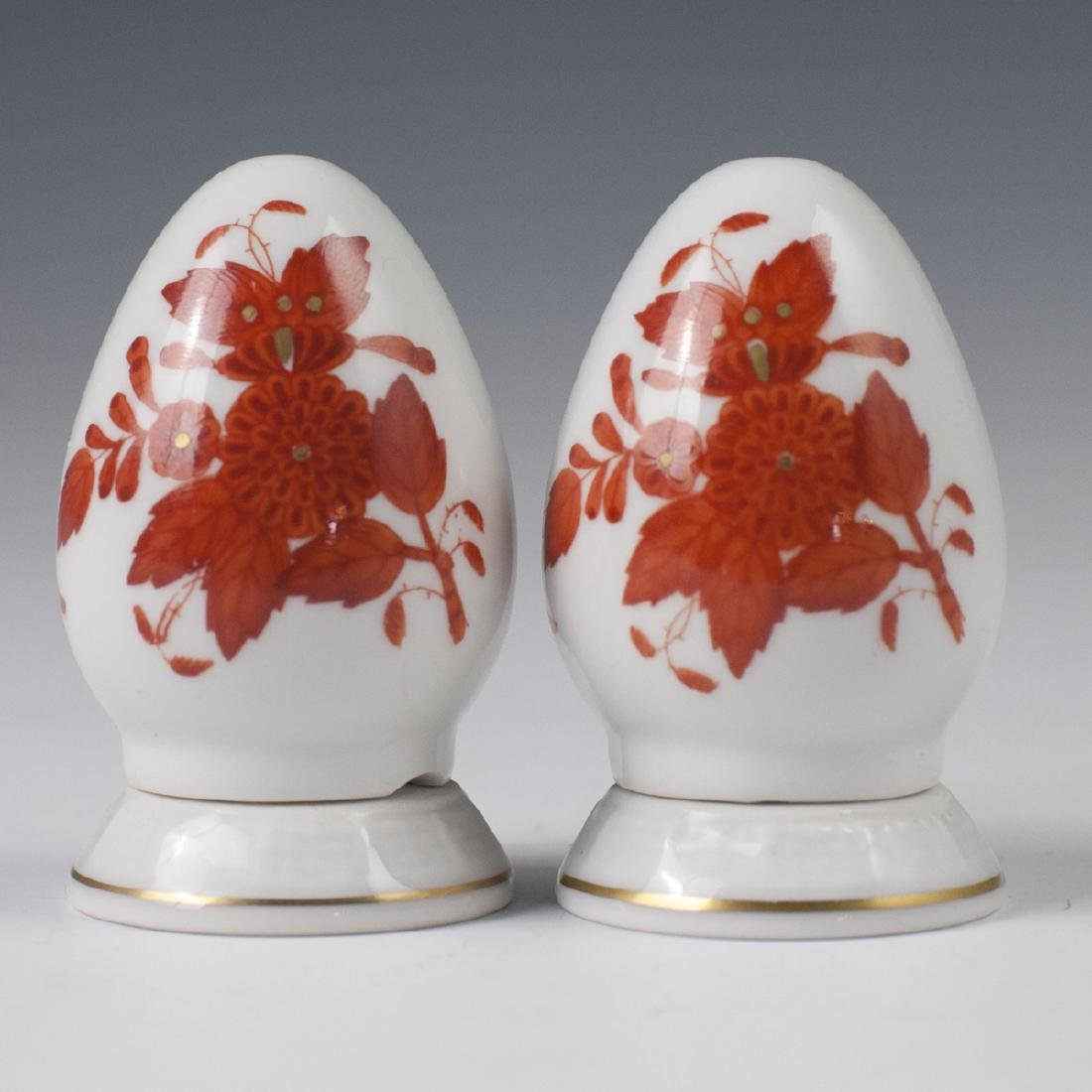 "Herend ""Apponyi Orange"" Salt & Pepper Shakers"