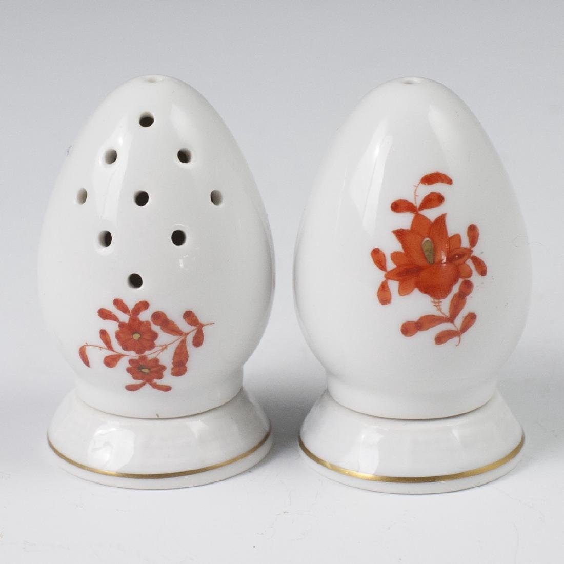 "Herend ""Apponyi Orange"" Salt & Pepper Shakers - 2"