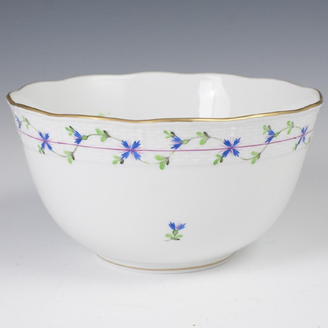 """Herend Porcelain """"Blue Garland"""" Vegetable Bowl"""