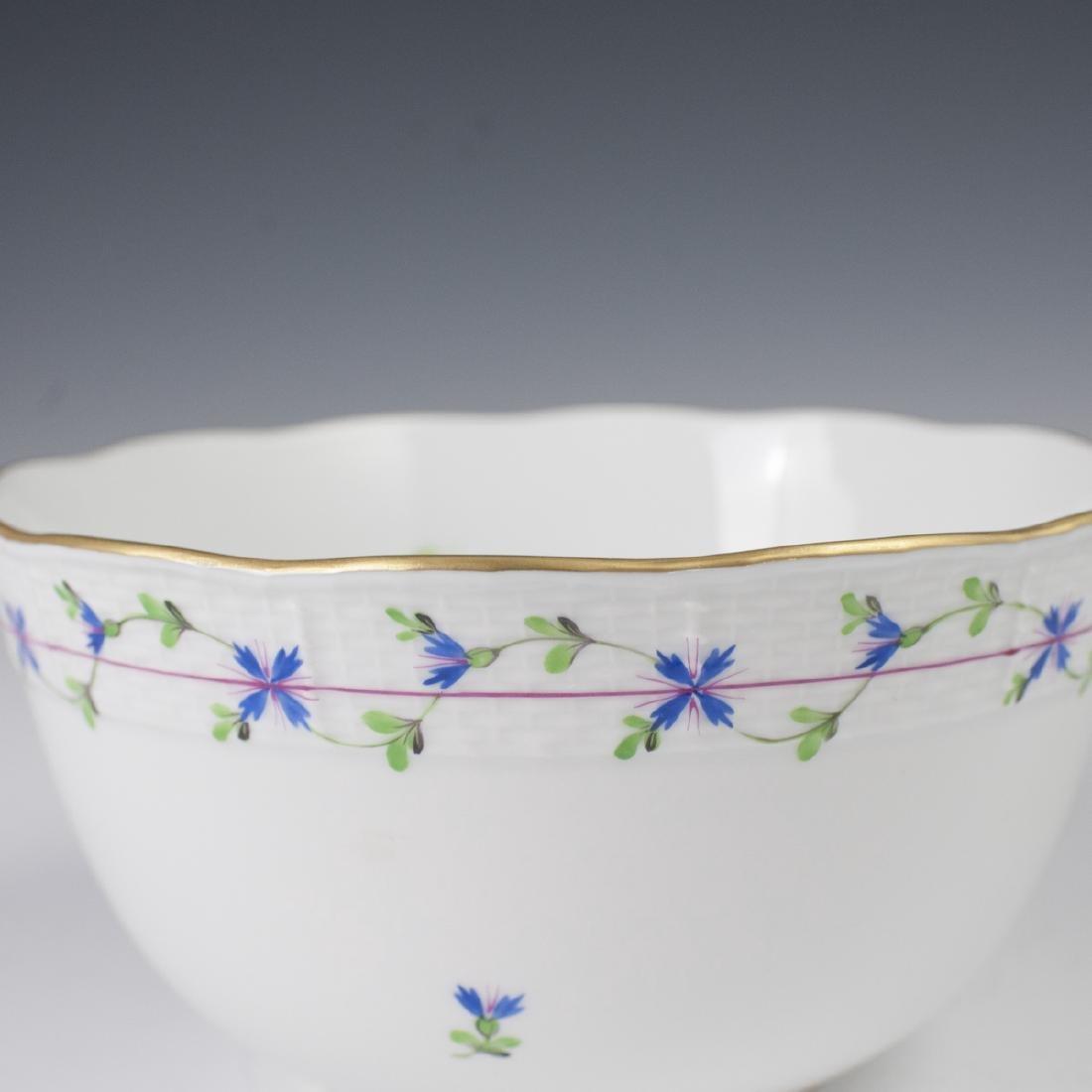 """Herend Porcelain """"Blue Garland"""" Vegetable Bowl - 2"""