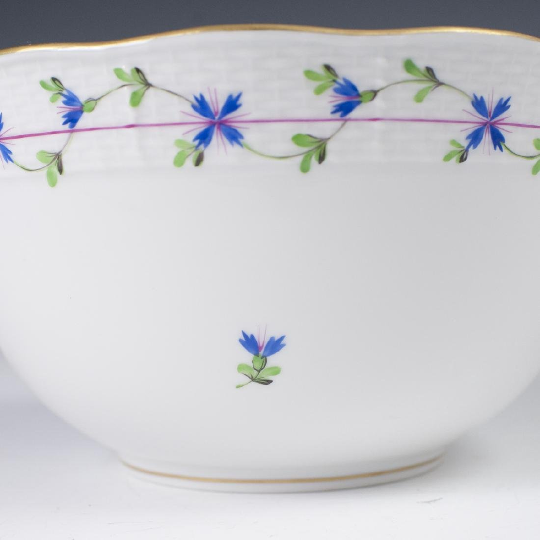 """Herend Porcelain """"Blue Garland"""" Vegetable Bowl - 4"""