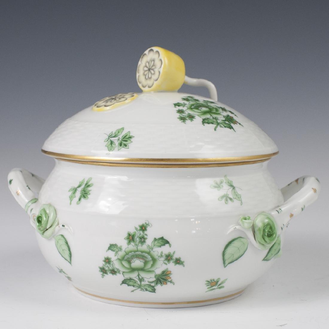 "Herend Porcelain ""Nanking Bouquet Vert"" Soup Tureen"