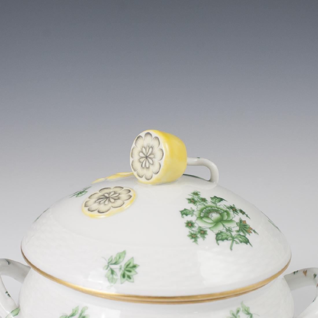 "Herend Porcelain ""Nanking Bouquet Vert"" Soup Tureen - 2"