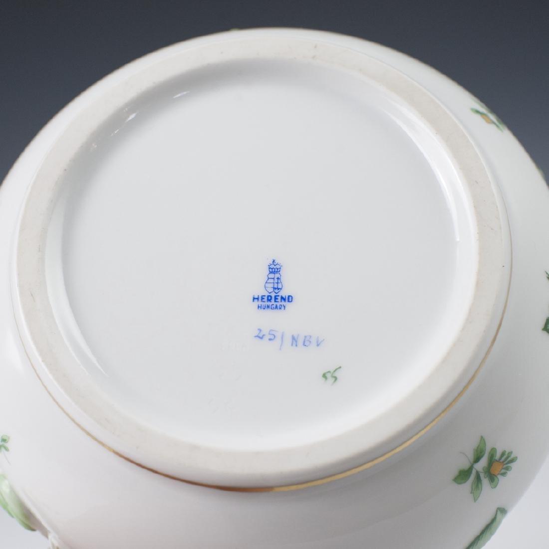 "Herend Porcelain ""Nanking Bouquet Vert"" Soup Tureen - 3"