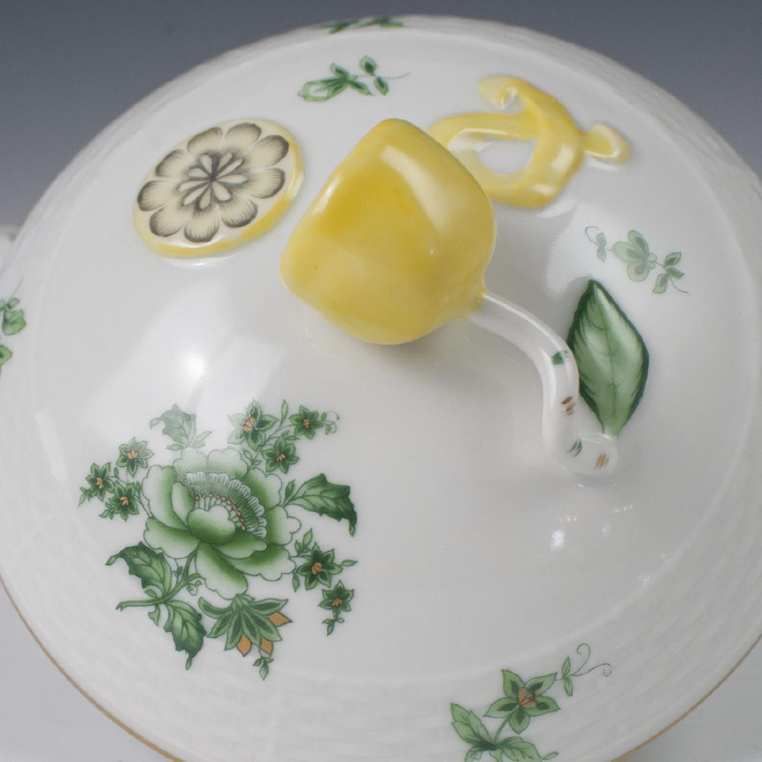 "Herend Porcelain ""Nanking Bouquet Vert"" Soup Tureen - 4"