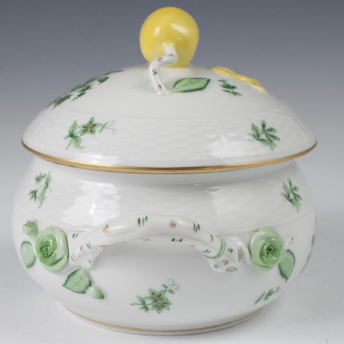 "Herend Porcelain ""Nanking Bouquet Vert"" Soup Tureen - 5"