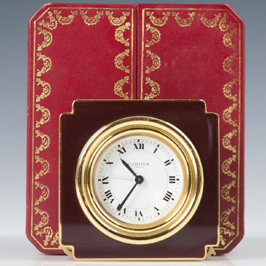 """Cartier """"Vendome"""" Travel Clock"""