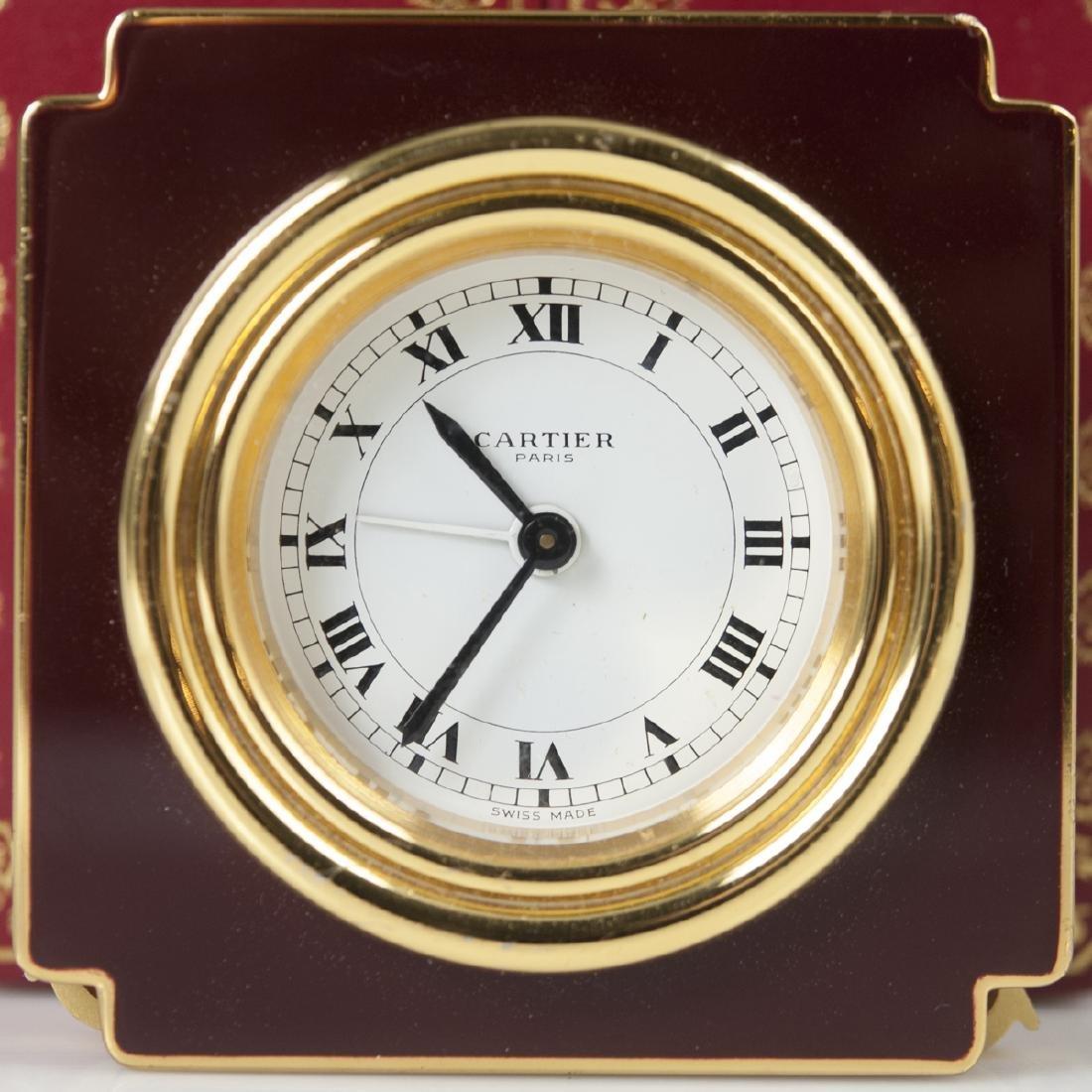 """Cartier """"Vendome"""" Travel Clock - 2"""