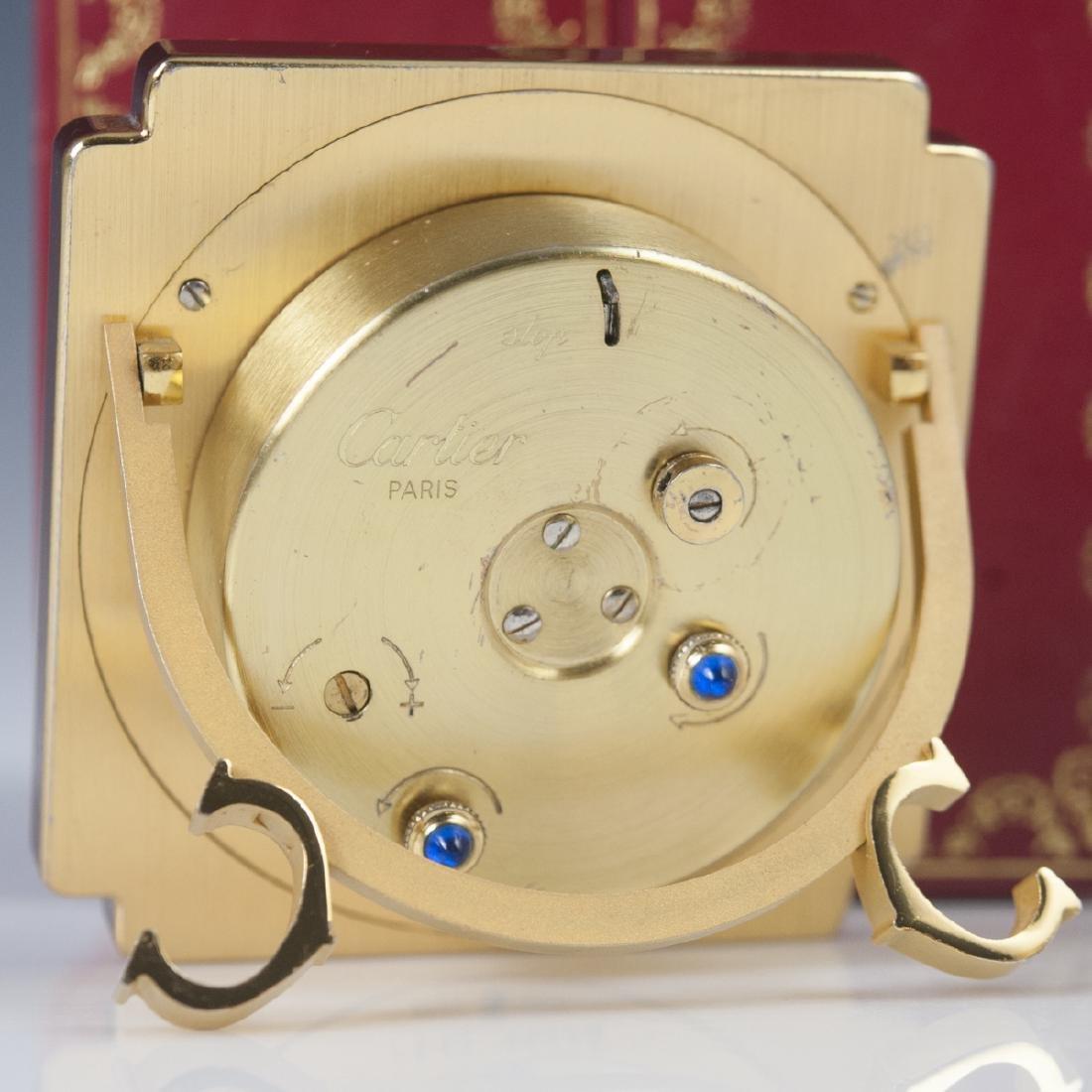"""Cartier """"Vendome"""" Travel Clock - 4"""