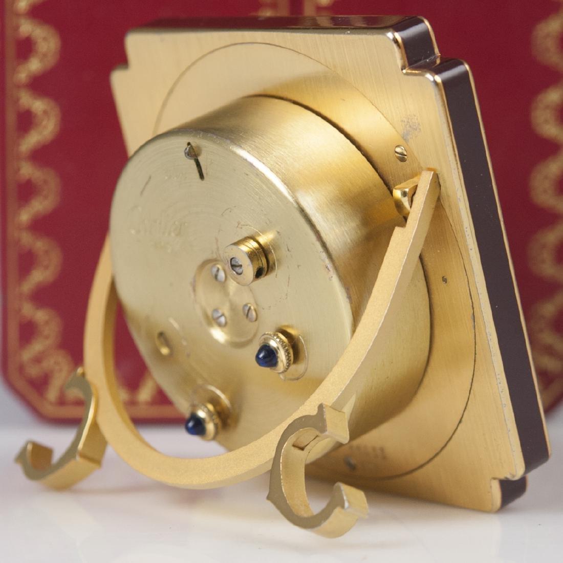 """Cartier """"Vendome"""" Travel Clock - 5"""