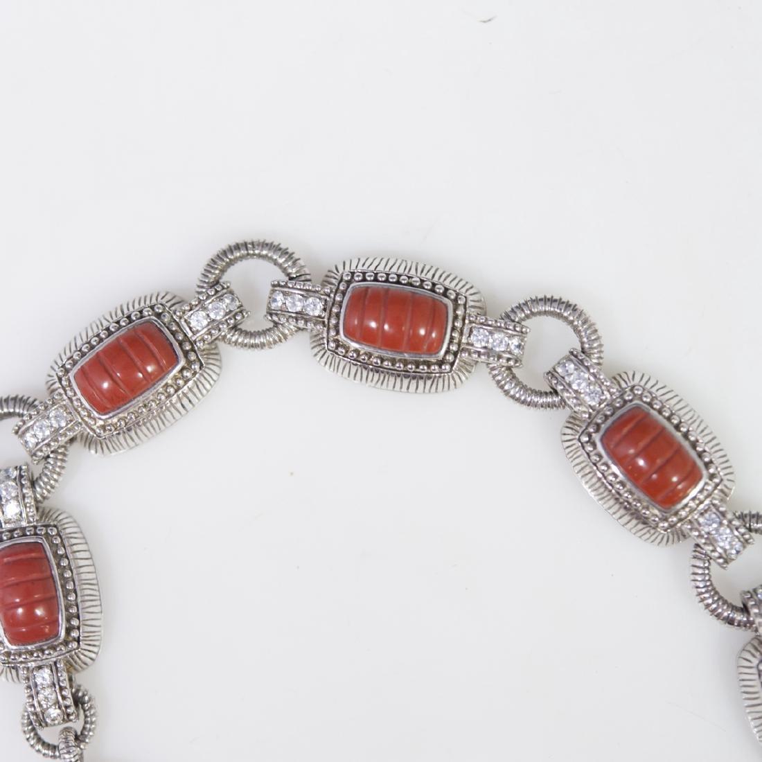 Judith Ripka Sterling Jasper & CZ Bracelet - 2