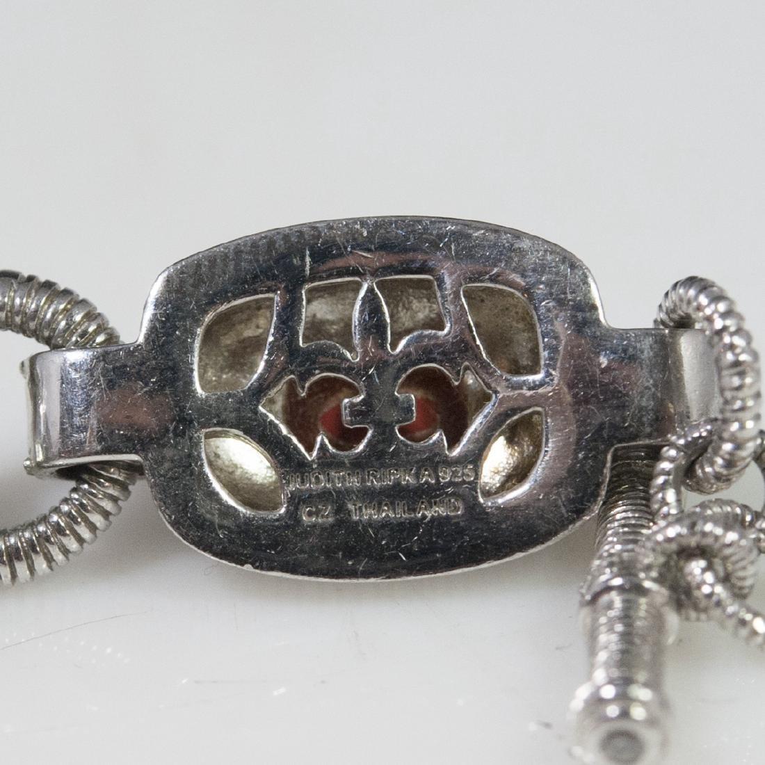 Judith Ripka Sterling Jasper & CZ Bracelet - 3