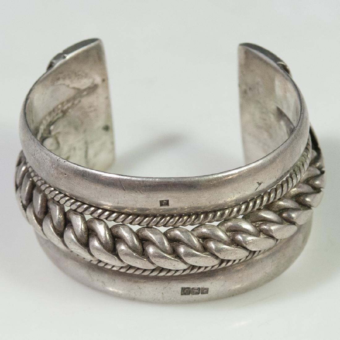 Egyptian Silver Cuff Bracelet
