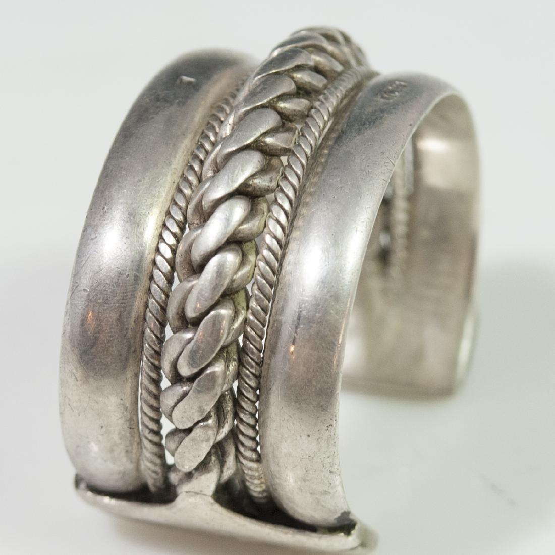 Egyptian Silver Cuff Bracelet - 4