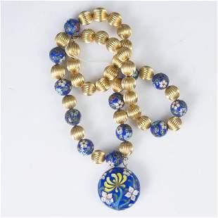 Vintage Cloisonne Enameled Necklace