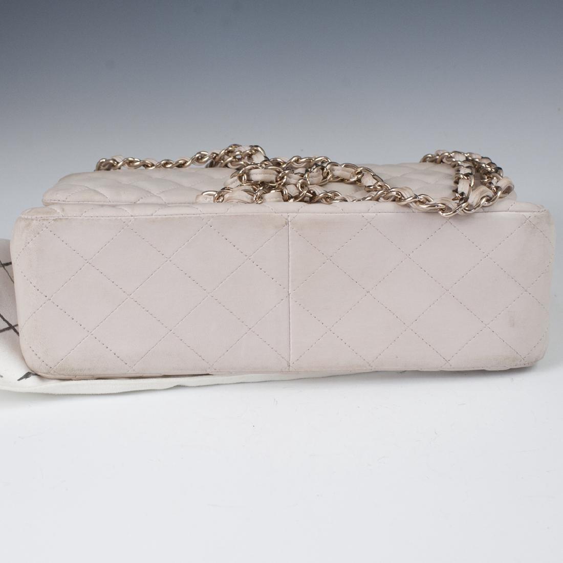 Chanel Light Beige Calfskin Flap Bag - 5