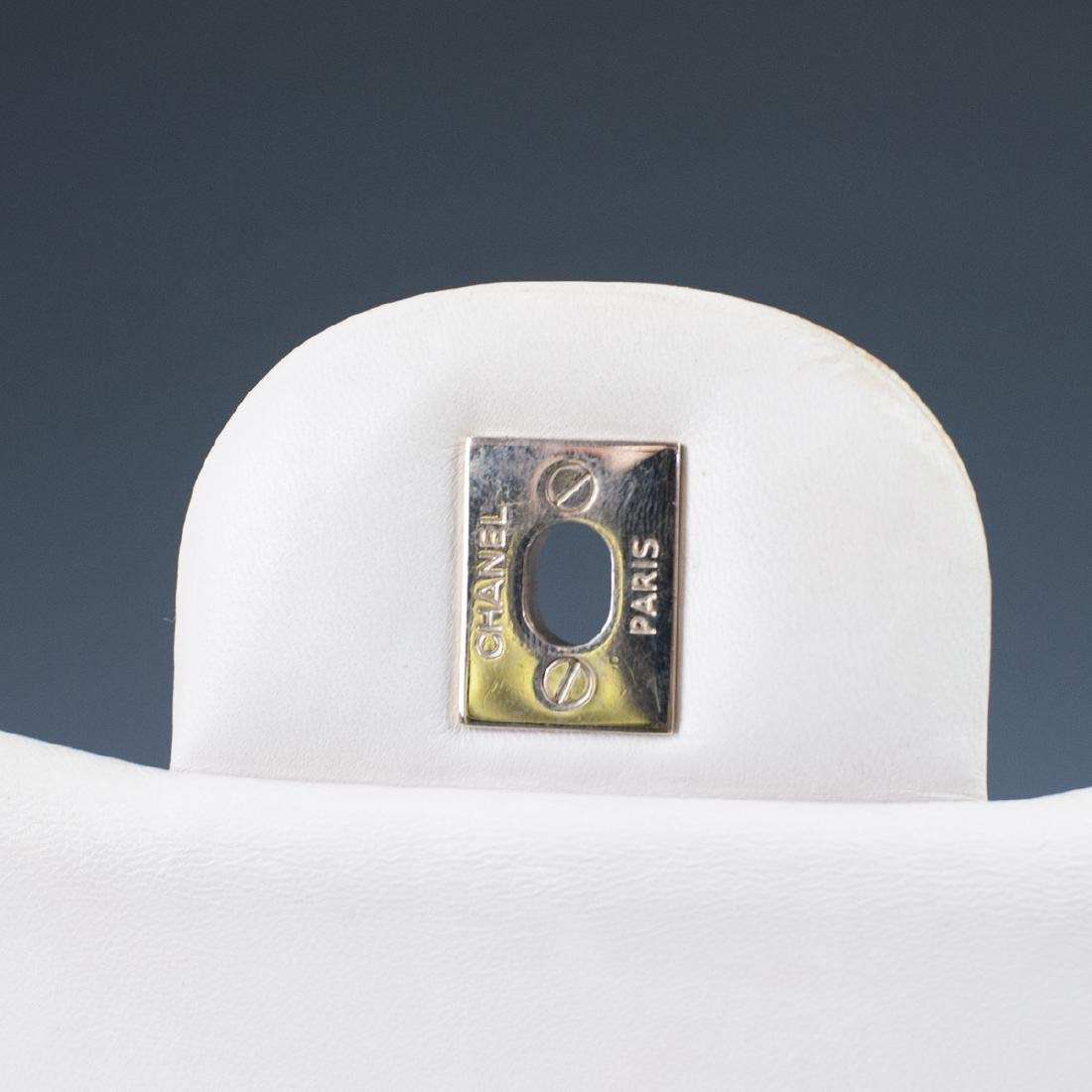 Chanel Light Beige Calfskin Flap Bag - 6