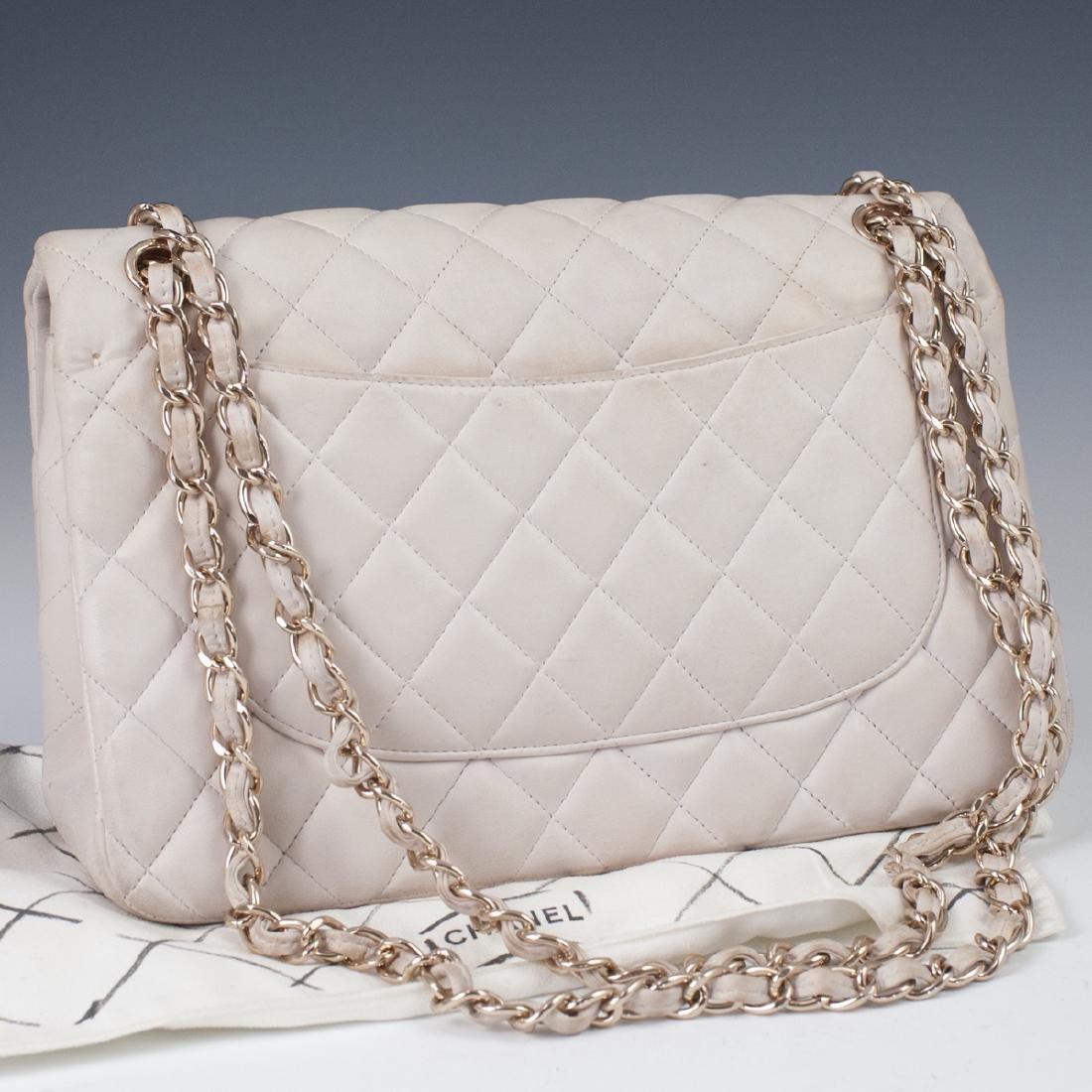 Chanel Light Beige Calfskin Flap Bag - 8
