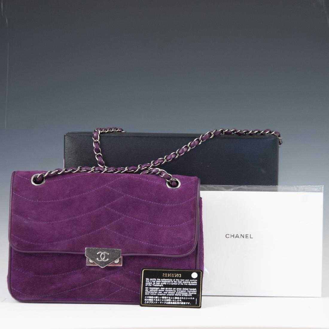 d7e8fbf1c260 Chanel Purple Suede Flap Bag