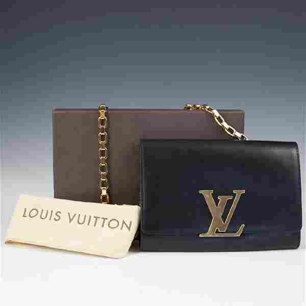 Louis Vuitton Black Calfskin Pochette Soir