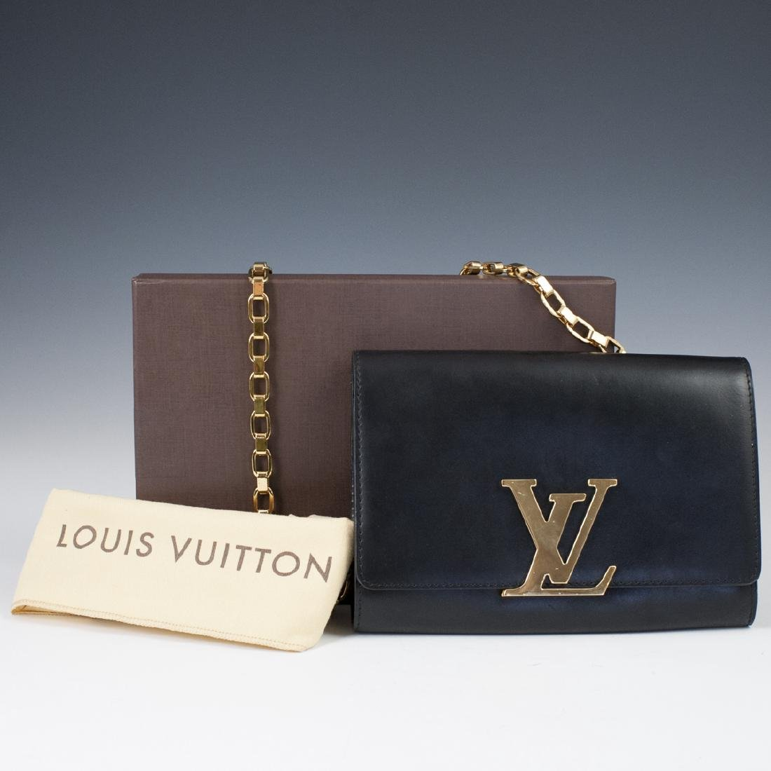 Louis Vuitton Black Calfskin Pochette Soir