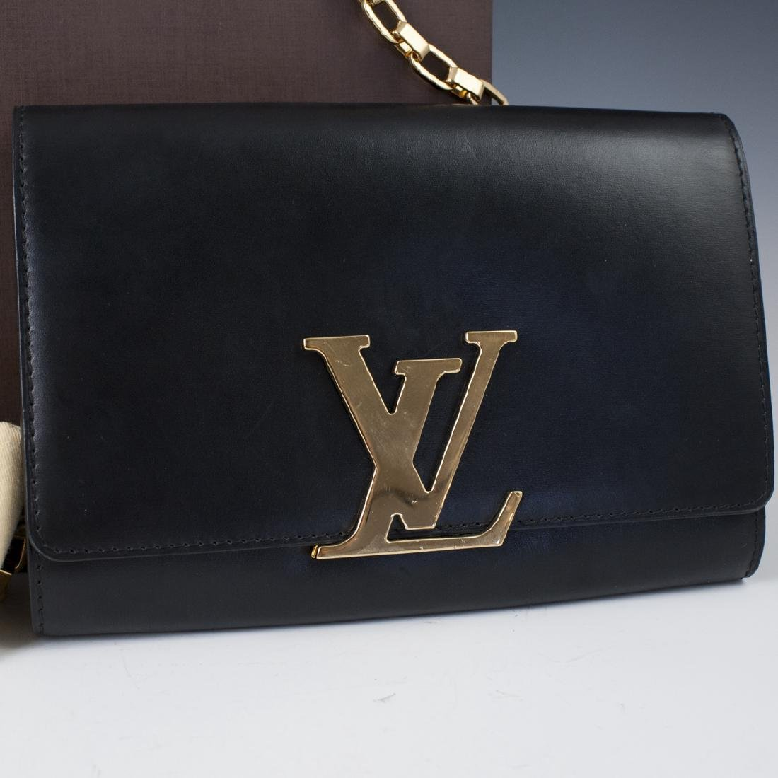 Louis Vuitton Black Calfskin Pochette Soir - 2