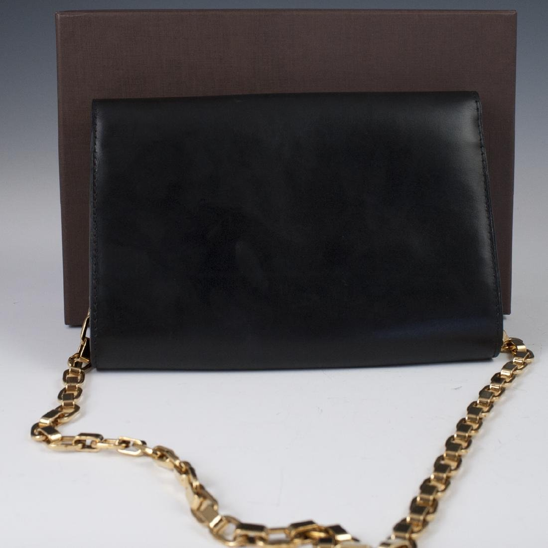 Louis Vuitton Black Calfskin Pochette Soir - 3