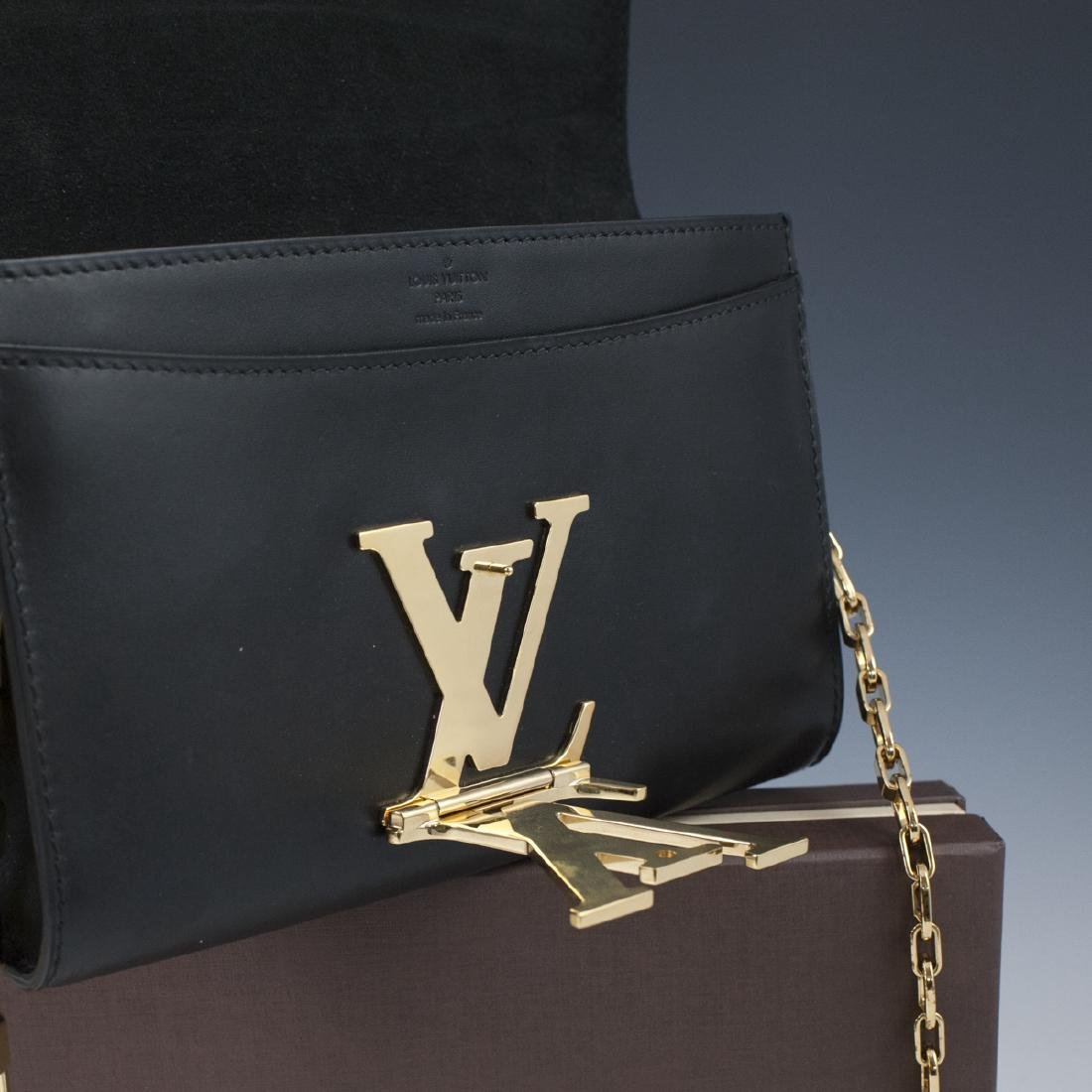 Louis Vuitton Black Calfskin Pochette Soir - 4