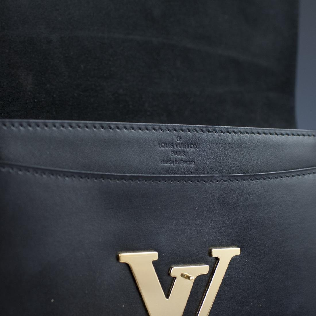 Louis Vuitton Black Calfskin Pochette Soir - 5