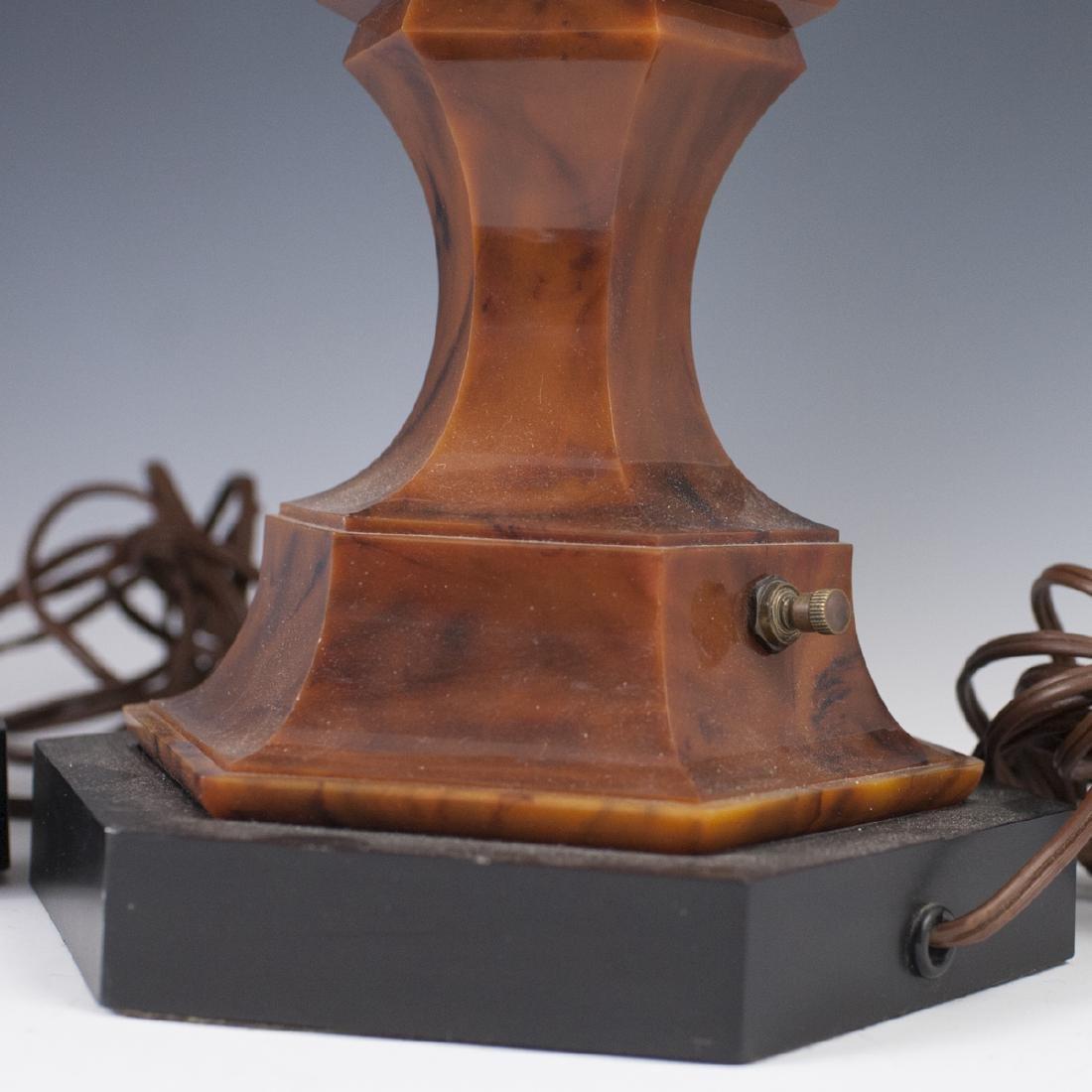 Mid-Century Stiffel Marble Bakelite Lamps - 3