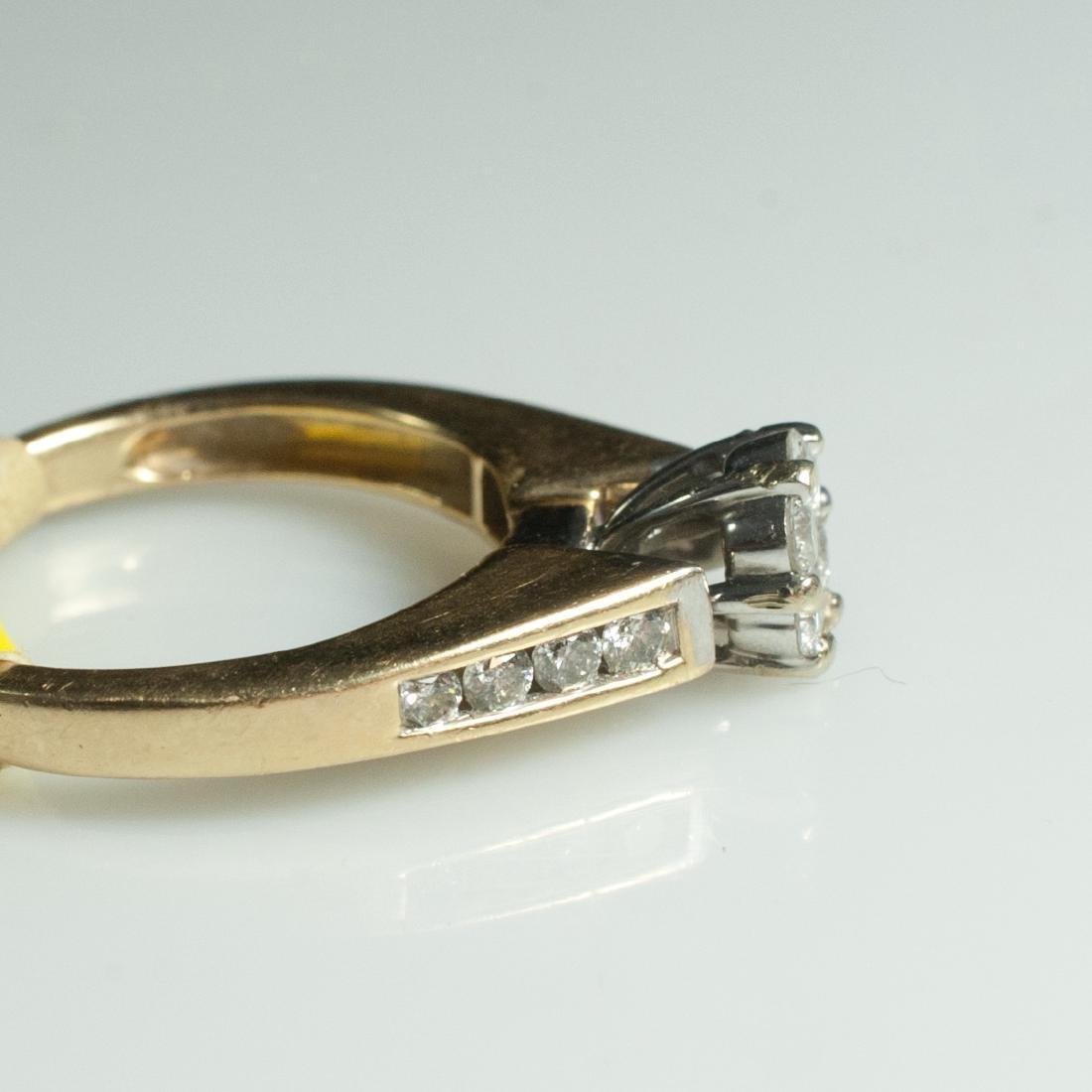 14kt Gold & Diamond Engagement Ring - 5