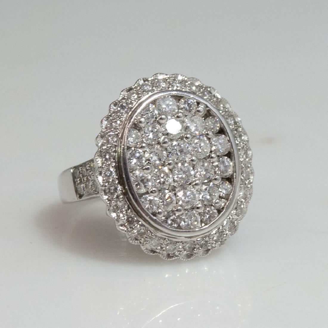 18kt Gold Diamond Ladies Ring