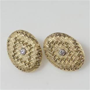 18kt Gold Diamond Art Deco Style Earrings