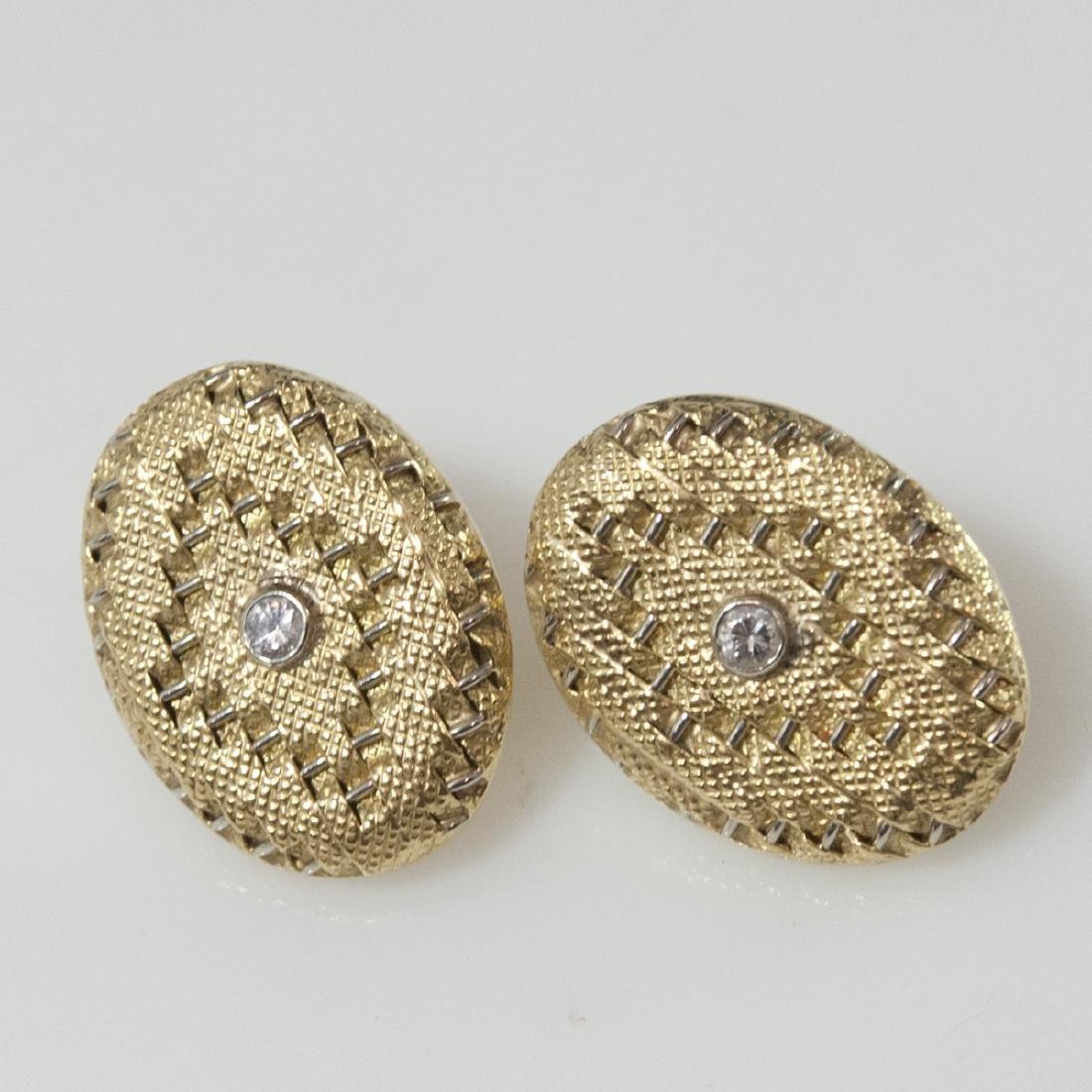 18kt Gold & Diamond Art Deco Style Earrings