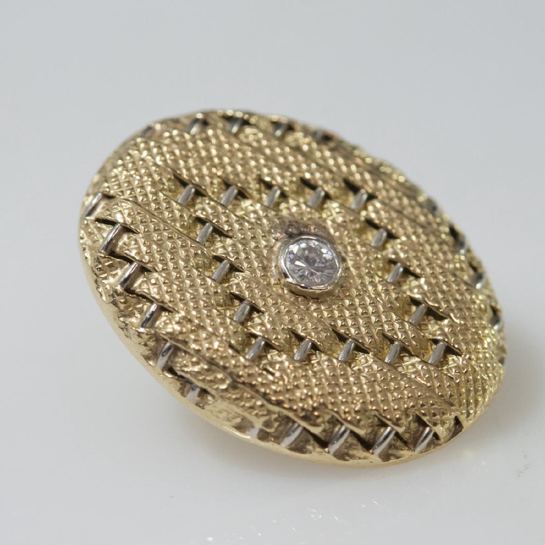 18kt Gold & Diamond Art Deco Style Earrings - 5
