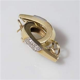 18kt Gold Diamond Earrings