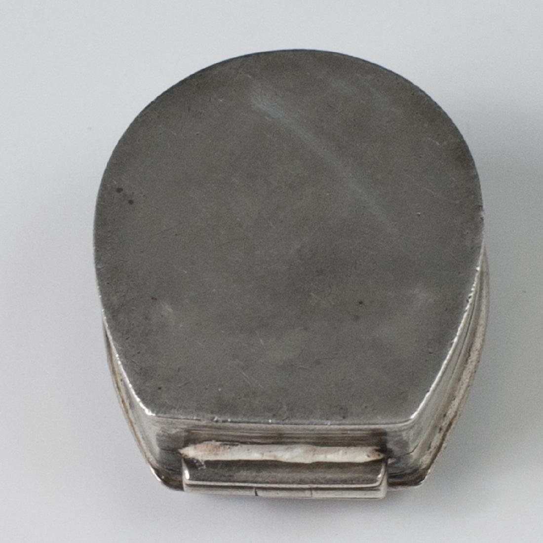 Antique Sterling Enamel Pill Box - 2