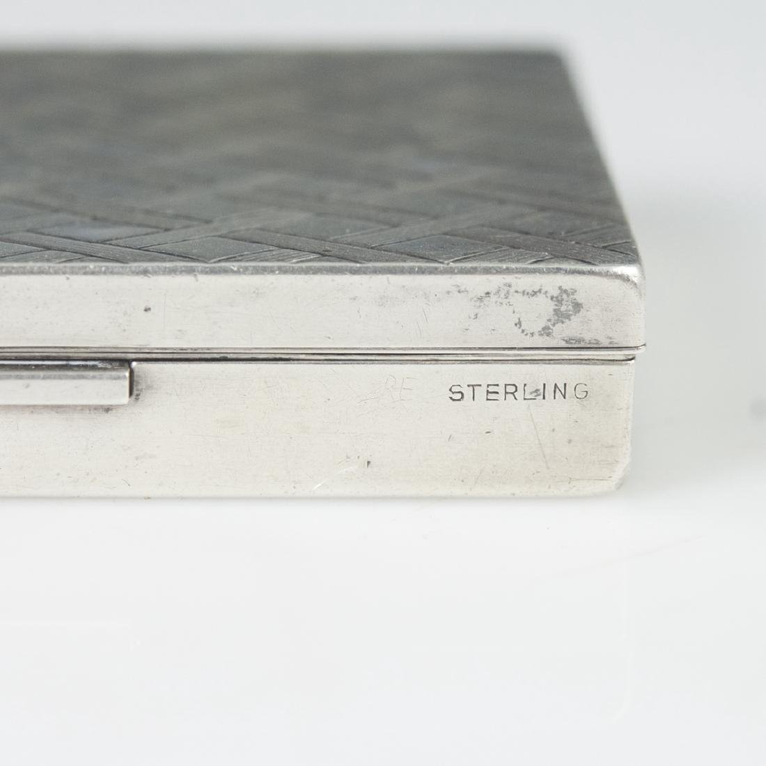 Antique Sterling Cigarette Box - 2