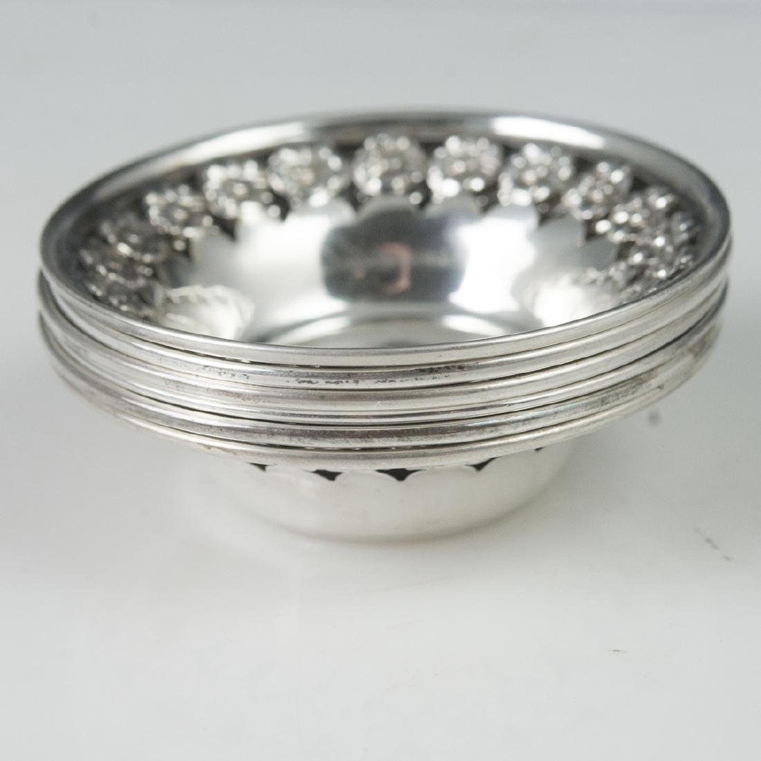 National Silver Co. Sterling Nut Dishes - 5