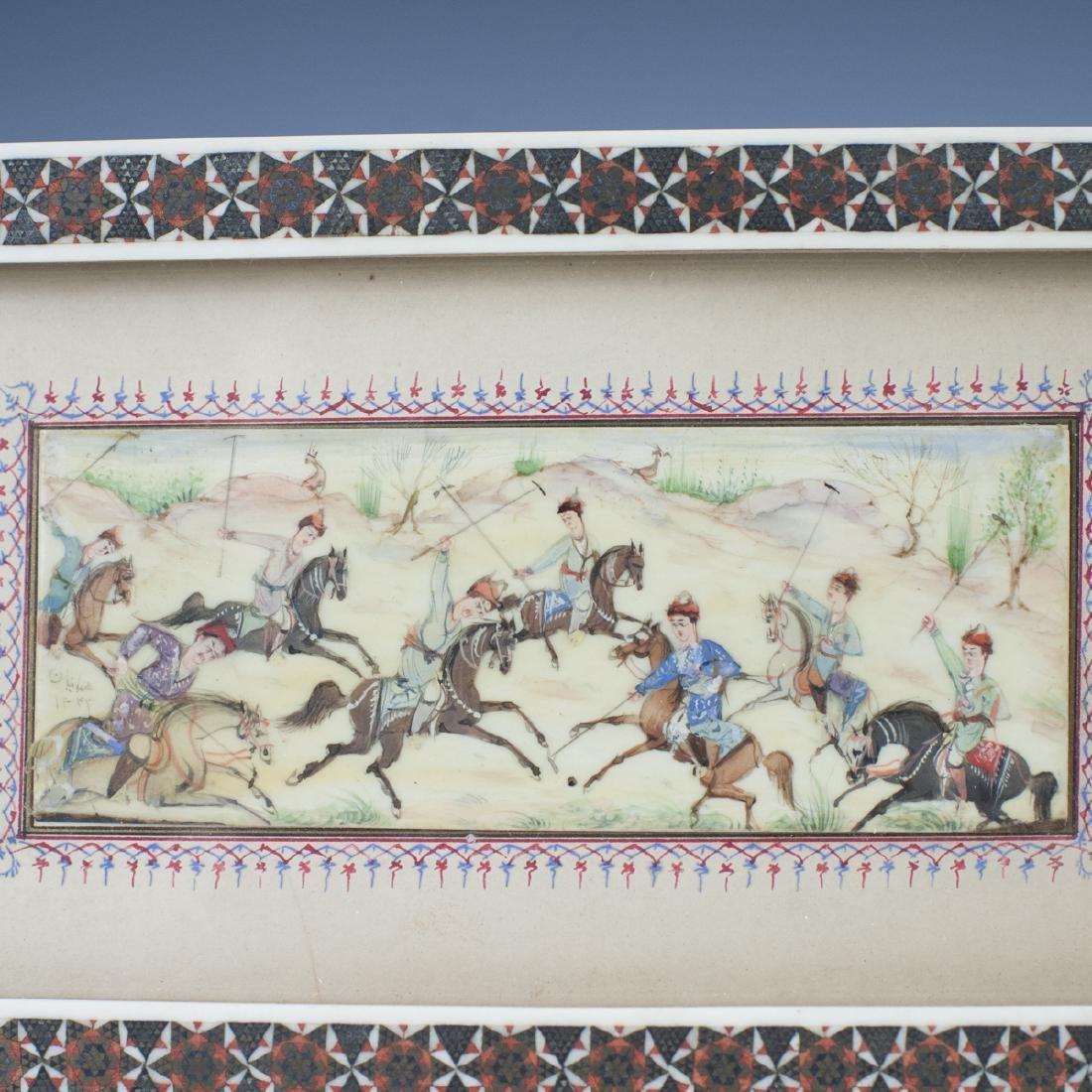 Persian Miniature Painting on Bone - 2
