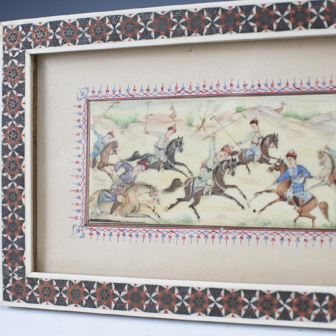 Persian Miniature Painting on Bone - 4