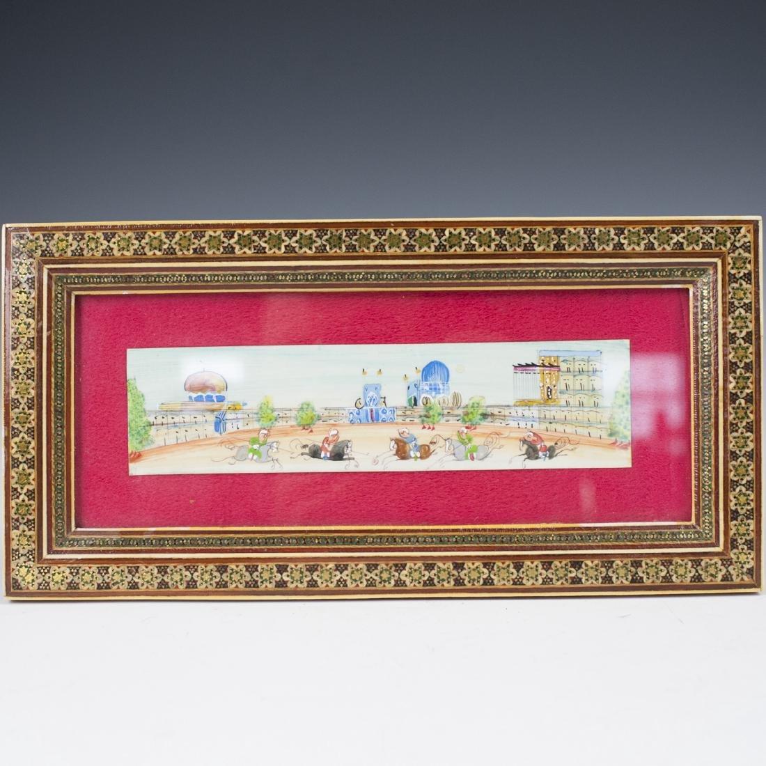 Persian Miniature Painting on Bone