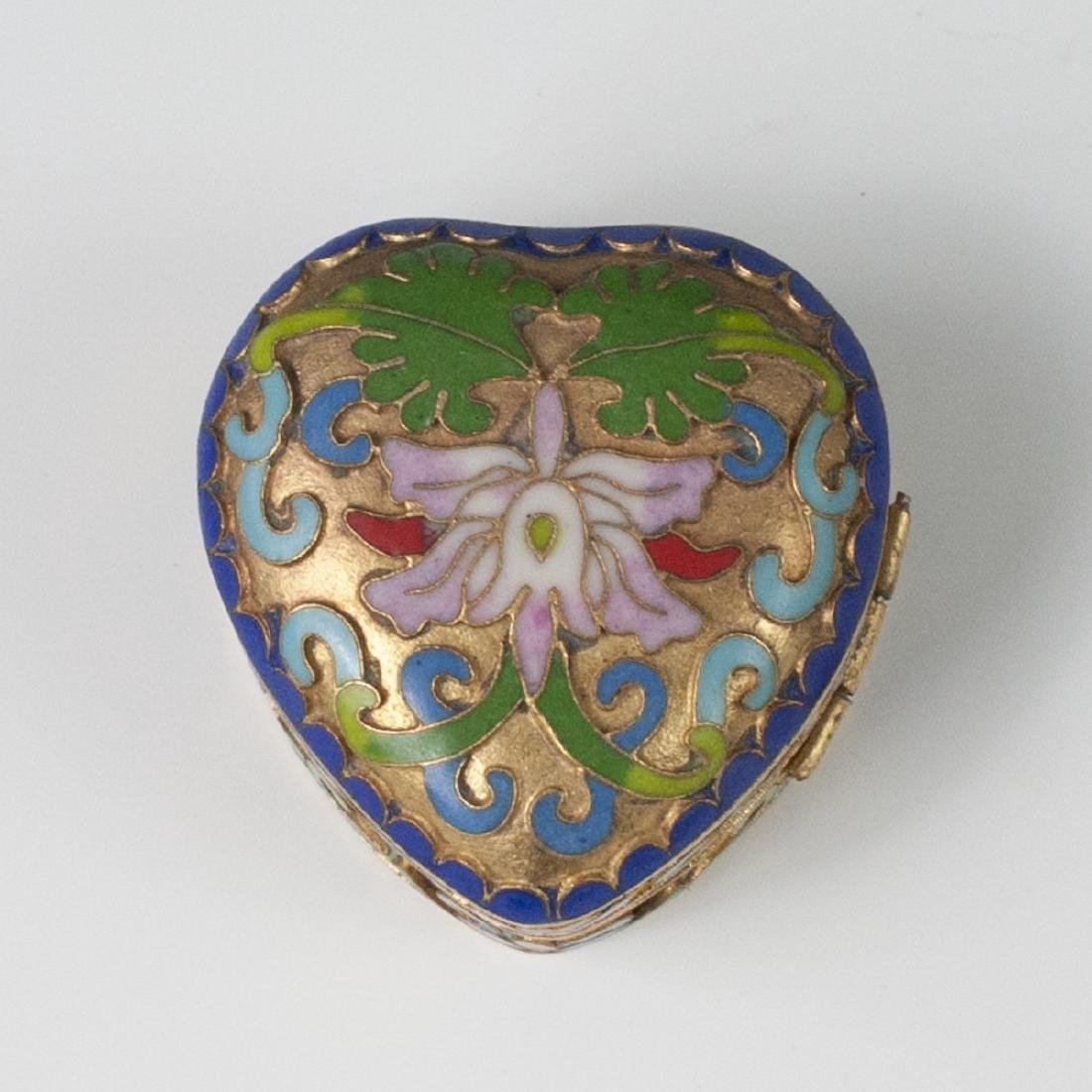 Chinese Cloisonne Enameled Trinket Box