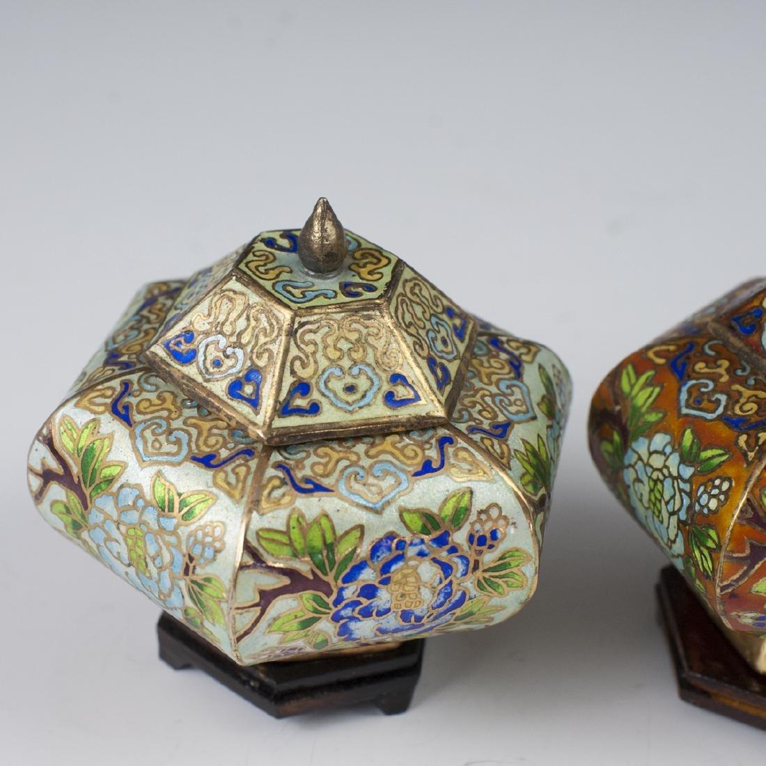 Chinese Cloisonne Enameled Jars - 2