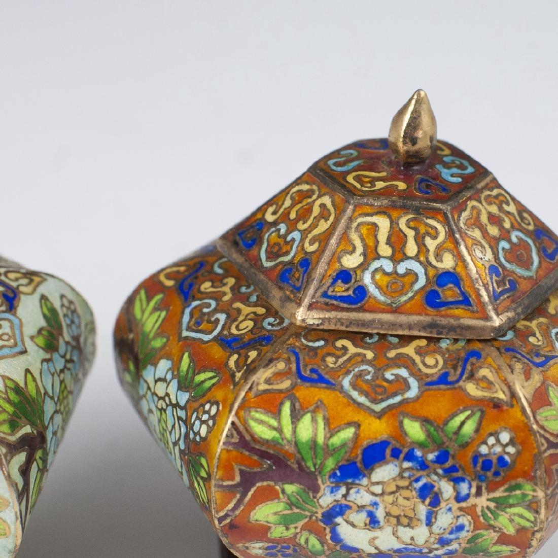 Chinese Cloisonne Enameled Jars - 3