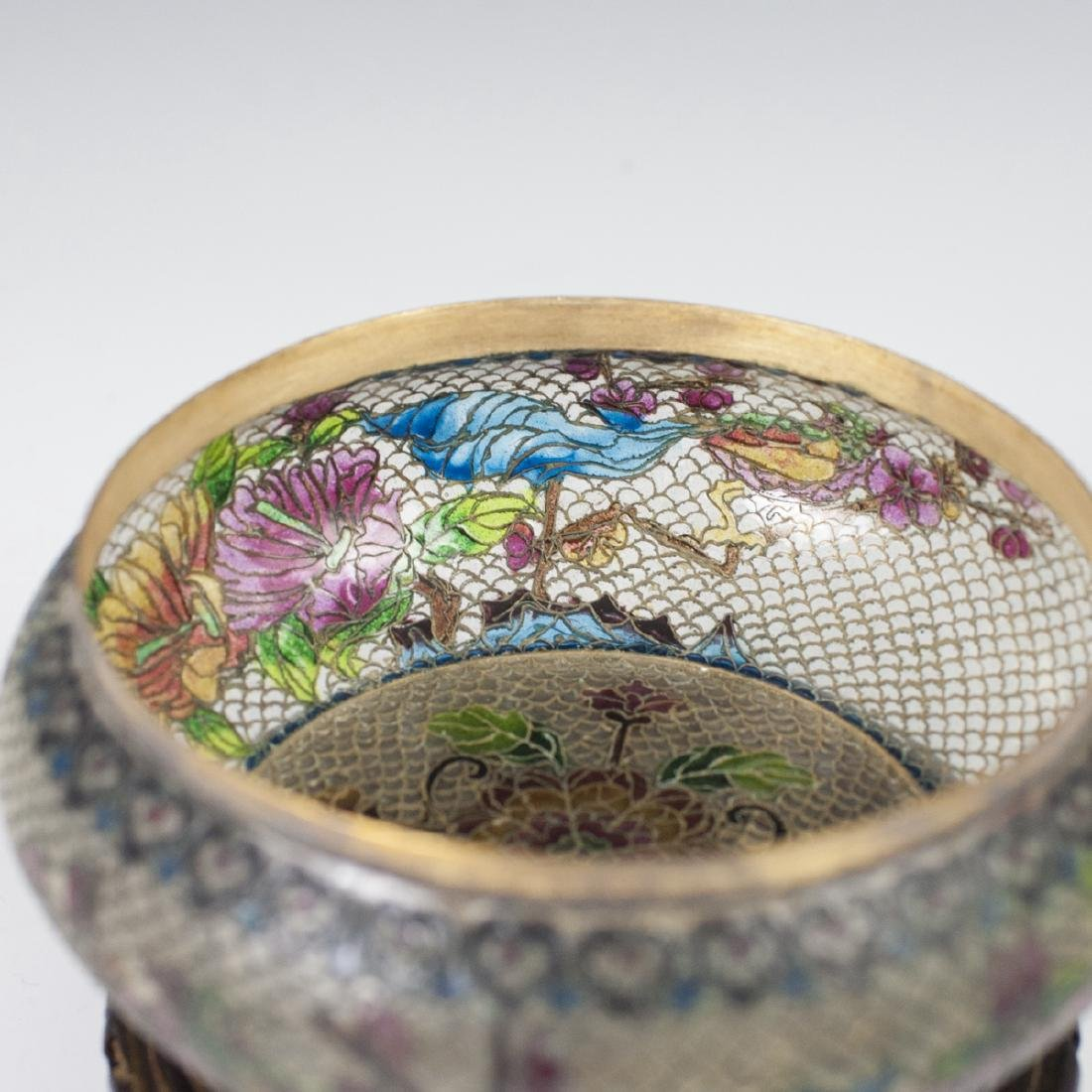 Chinese Plique A Jour Reticulated Jar - 3