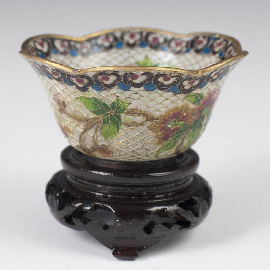 Chinese Plique a Jour Diminutive Bowl